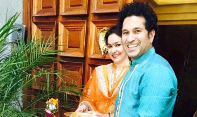 Sachin Tendulkar and anjali photos