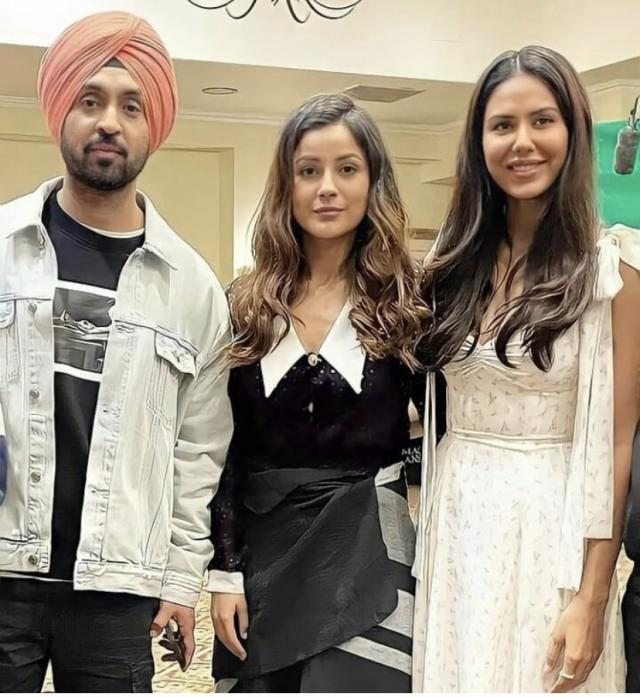 Shehnaaz Gill with Diljit Dosanjh and Sonam Bajwa