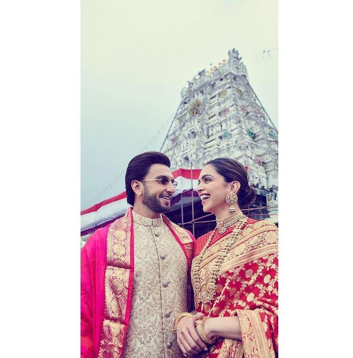 Ranveer and Deepika At Tirupati Temple