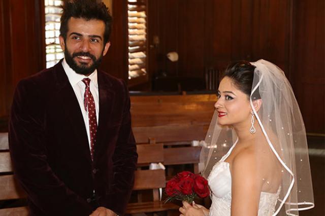Jay Bhanushali And Mahhi Vij Church Wedding Photo