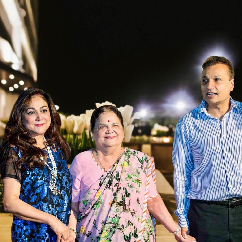 Tina Ambani Family