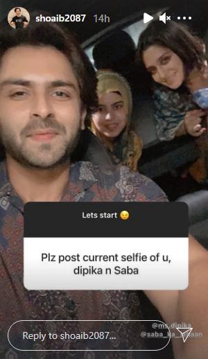 shoaib selfie