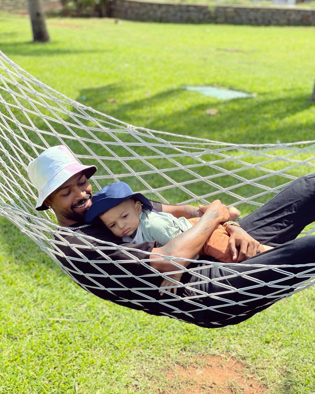 Hardik Pandya With Son