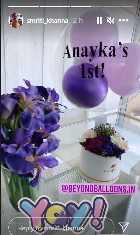 anayka first birthday