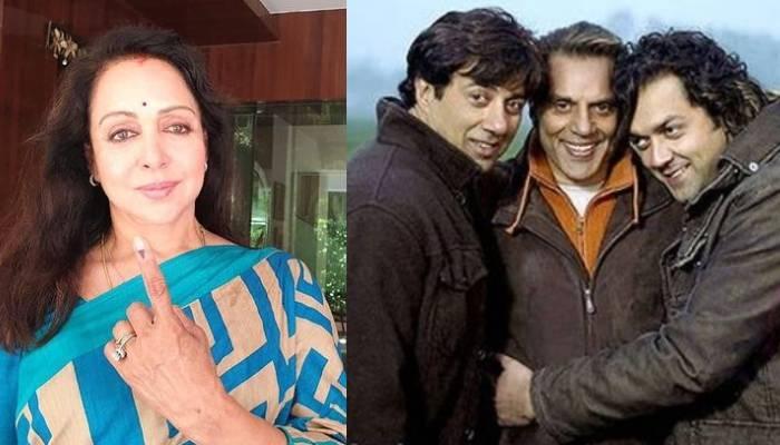 Hema Malini And Sunny Deol
