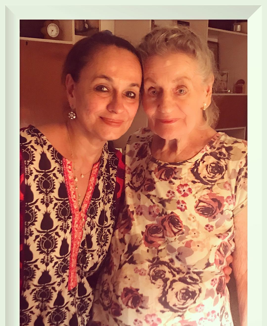 Soni Razdan With Mother