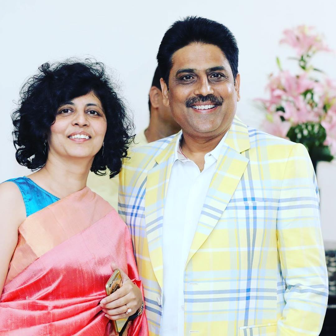 shailesh Lodha with wife Swati Lodha