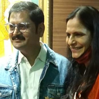 Rohitash Gaud With Wife
