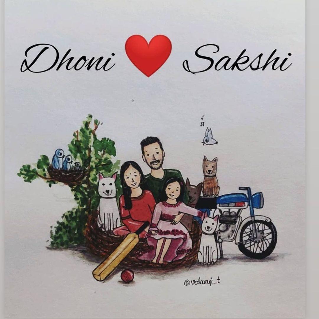 dhoni family