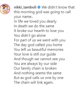 Nikki Tamboli Brother Jatin Passes Away
