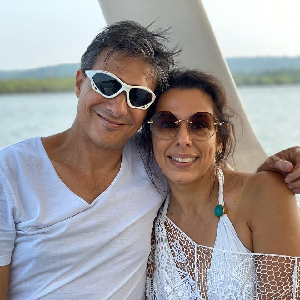 pooja bedi with boyfriend