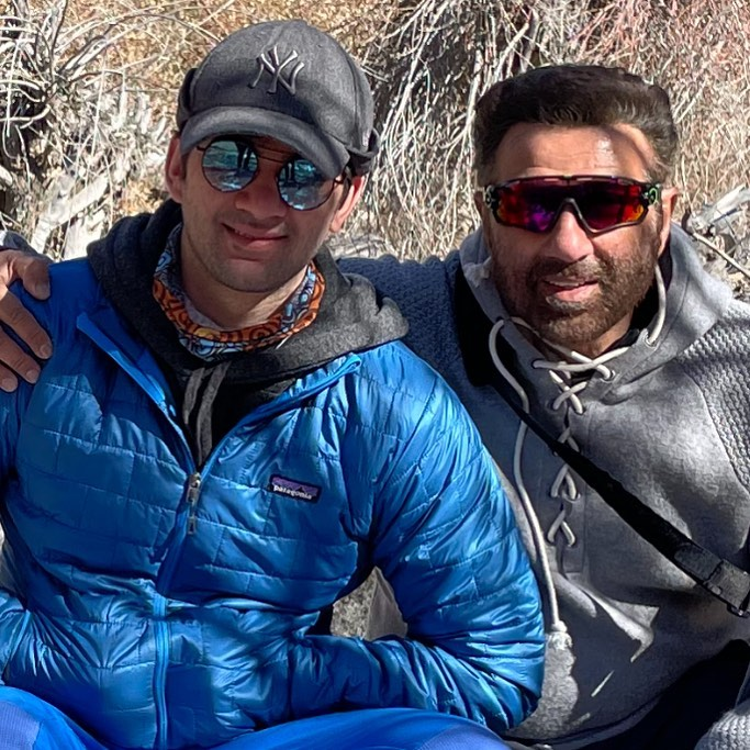 sunny deol with son