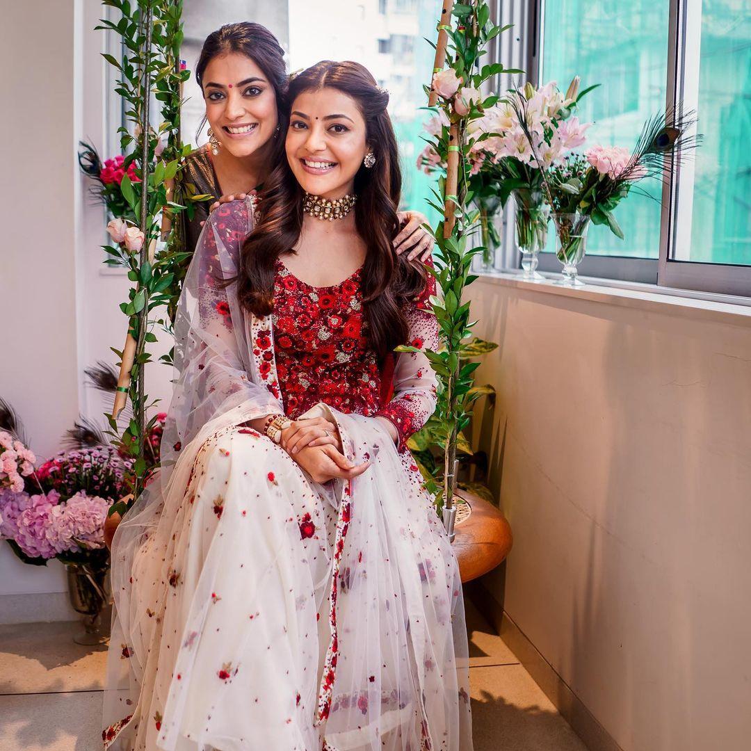 kajal aggarwal with sister nisha aggarwal