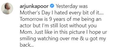 Arjun Kapoor With Mother