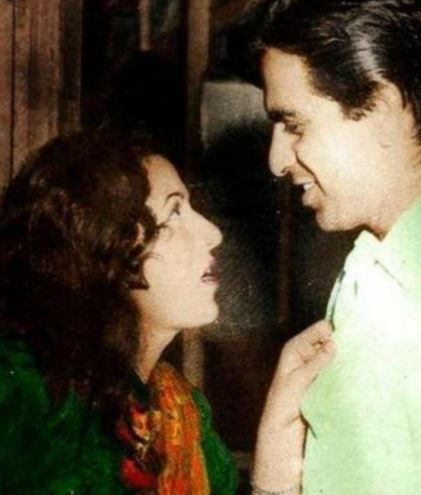 Madhubala and Dilip Kumar