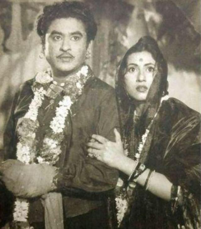 Madhubala and Kishor Kumar