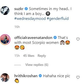 Hrithik Roshan comment