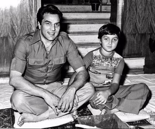 dharmendra with bobby deol