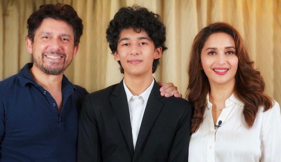 madhuri dixit husband and son