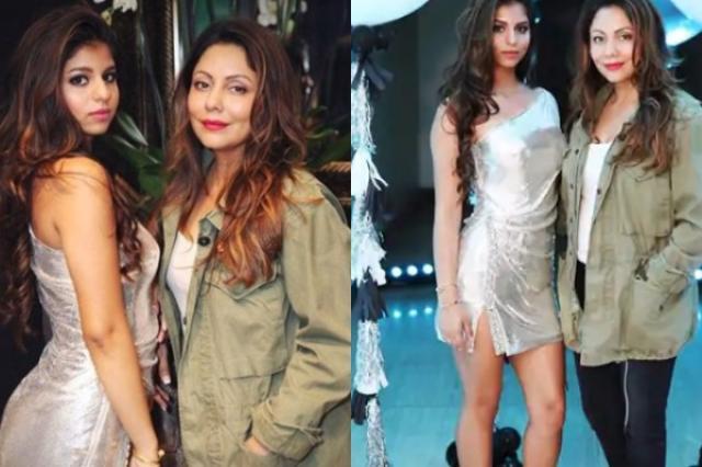 suhana khan silver dress