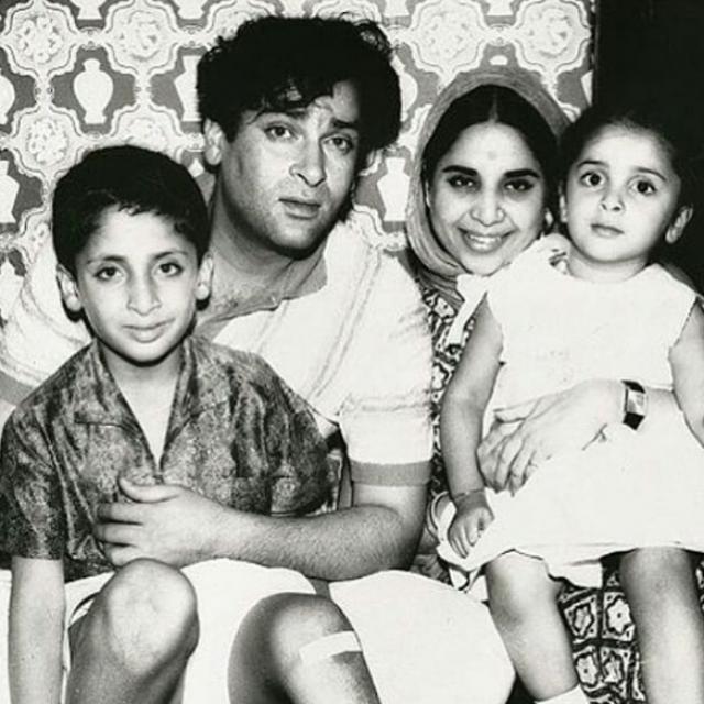 Shammi Kapoor and Geeta Bali's children