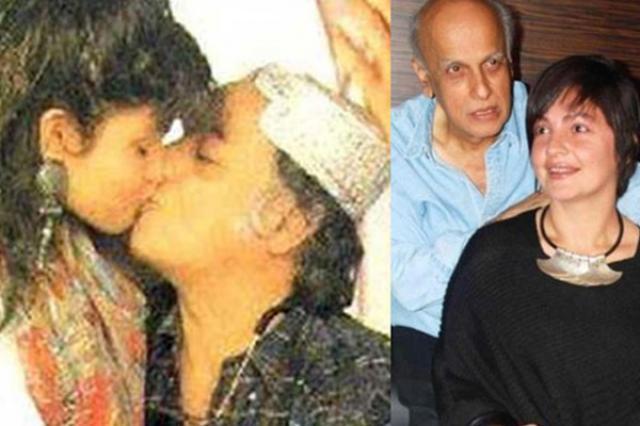 Pooja Bhatt and Mahesh Bhatt Kissing Scene