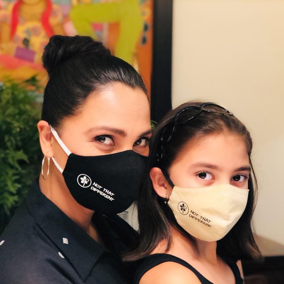lara dutta with daughter