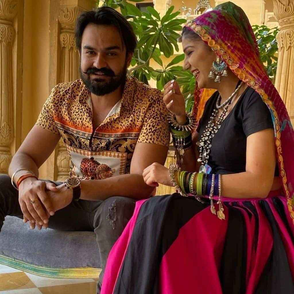 Sapna Chaudhary With Husband Veer Sahu