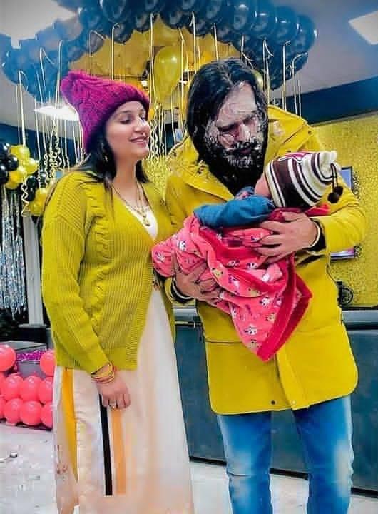 Sapna Chaudhary With Husband and Son