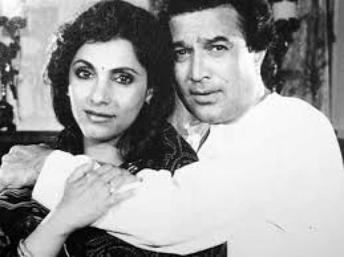 Dimple Kapadia and her husband Rajesh Khanna