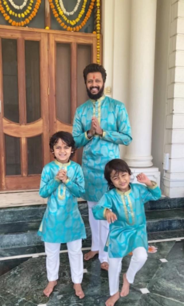 Ritesh Deshmukh and Genelia D'Souza Kids