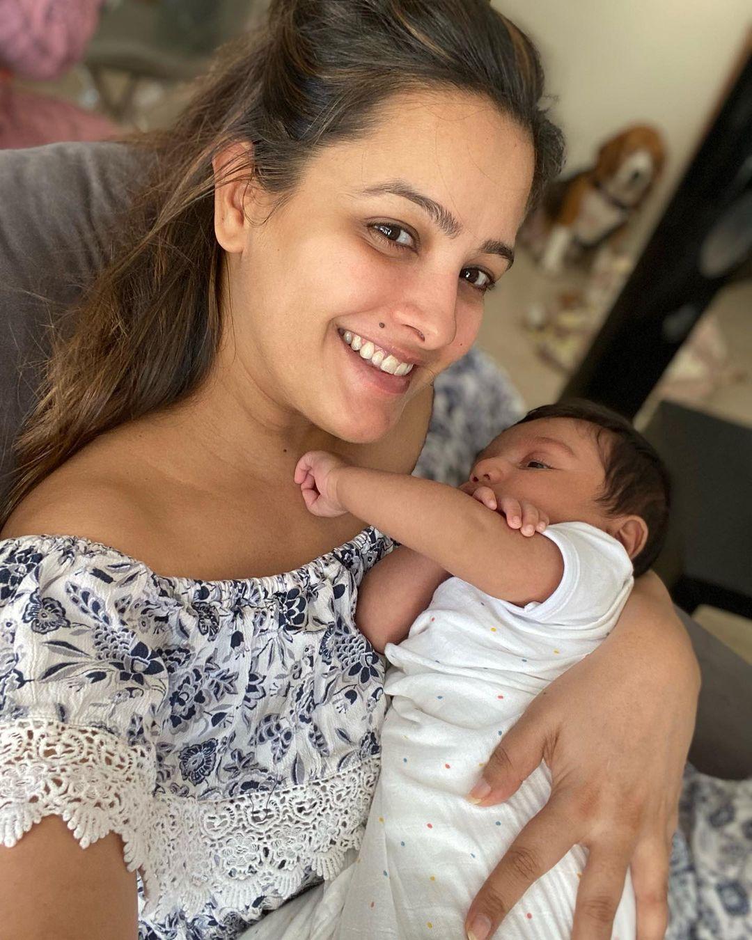 Anita Hassanandani with her Son Aaravv