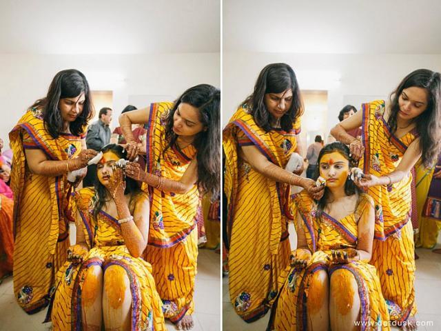 gujarati wedding pithi
