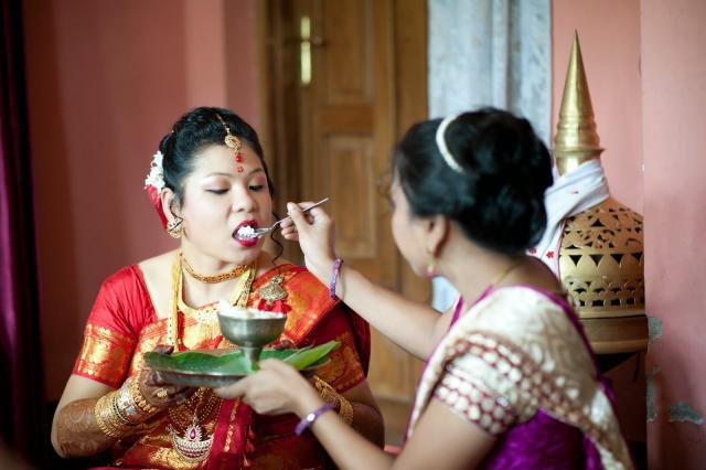 bridal dress in Assam Weddings