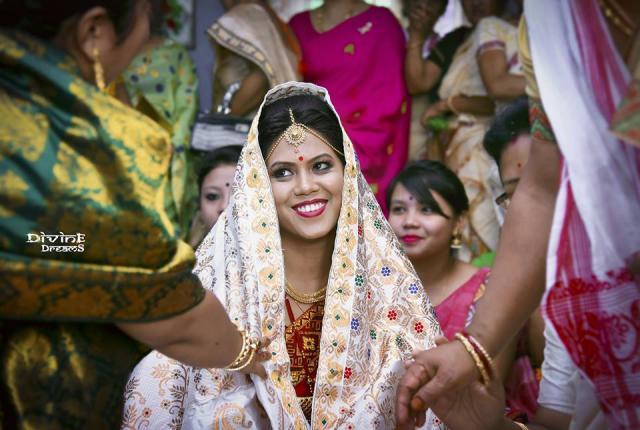 reception in assames wedding