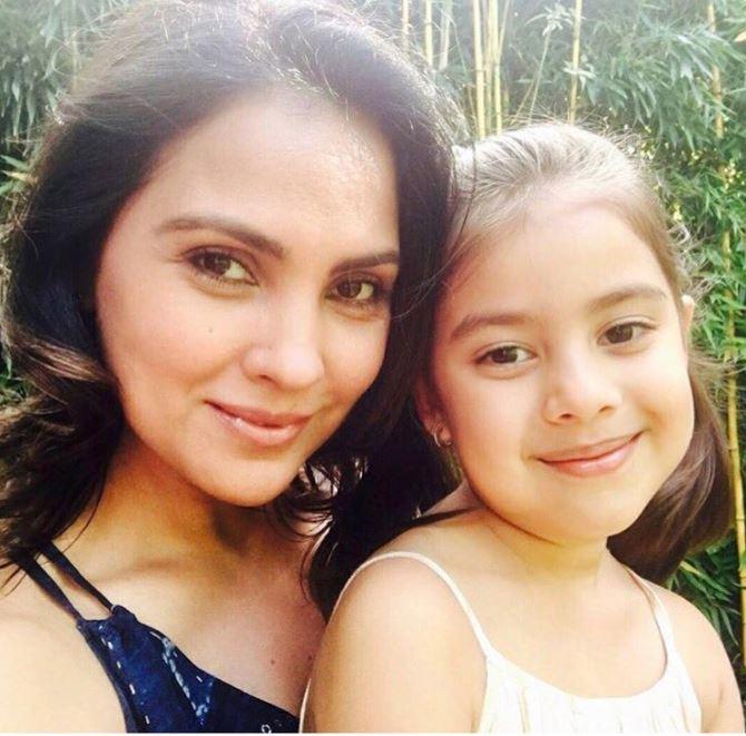 Lara Dutt With Her Daughter
