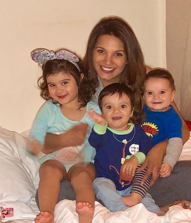Diana Hayden With Her Children