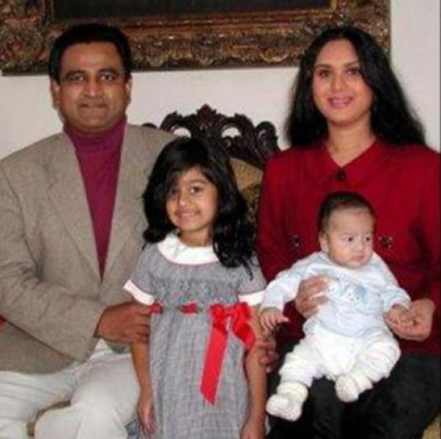 Meenakshi Seshadri With Her Family