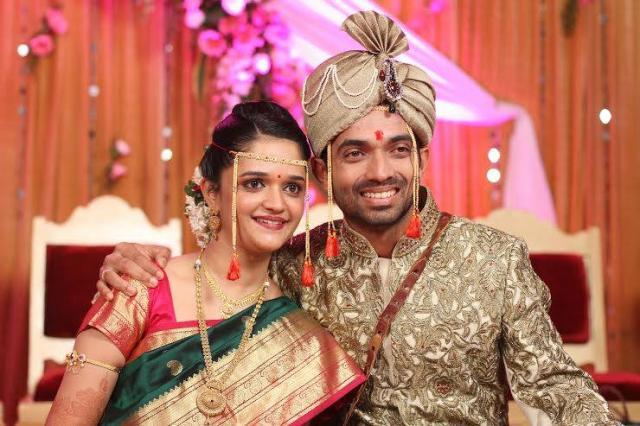 Ajinkya Rahane And Radhika Dhopavkar wedding