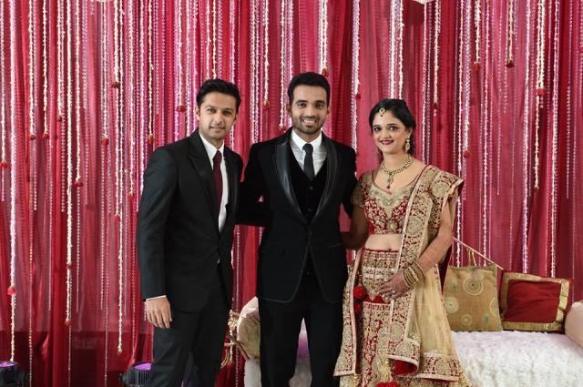 Ajinkya Rahane And Radhika Dhopavkar reception photo
