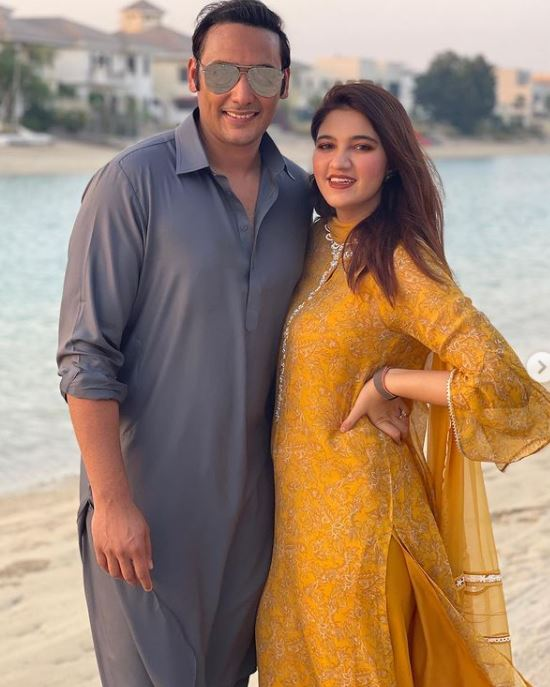 Anam Mirza With Her Husband Asad