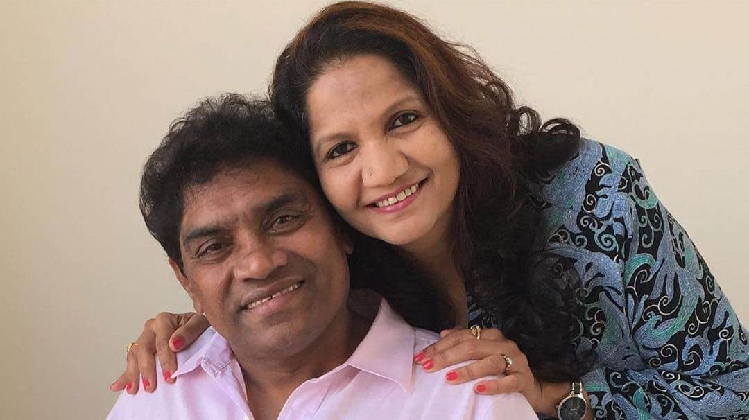 johnny lever and his wife