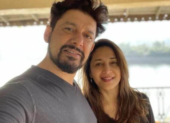 Madhuri Dixit With Her Husband Shriram Nene