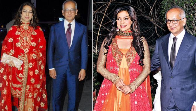 Juhi Chawla With Her Husband Jay Mehta