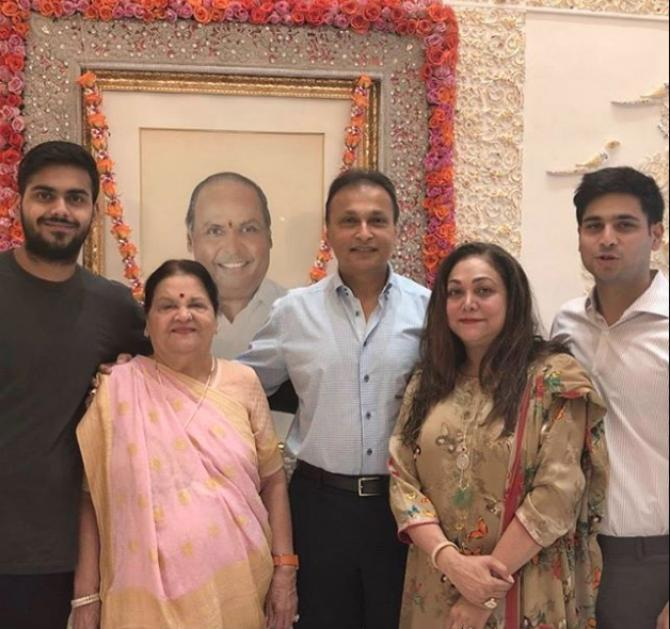 Anil Ambani  With Family