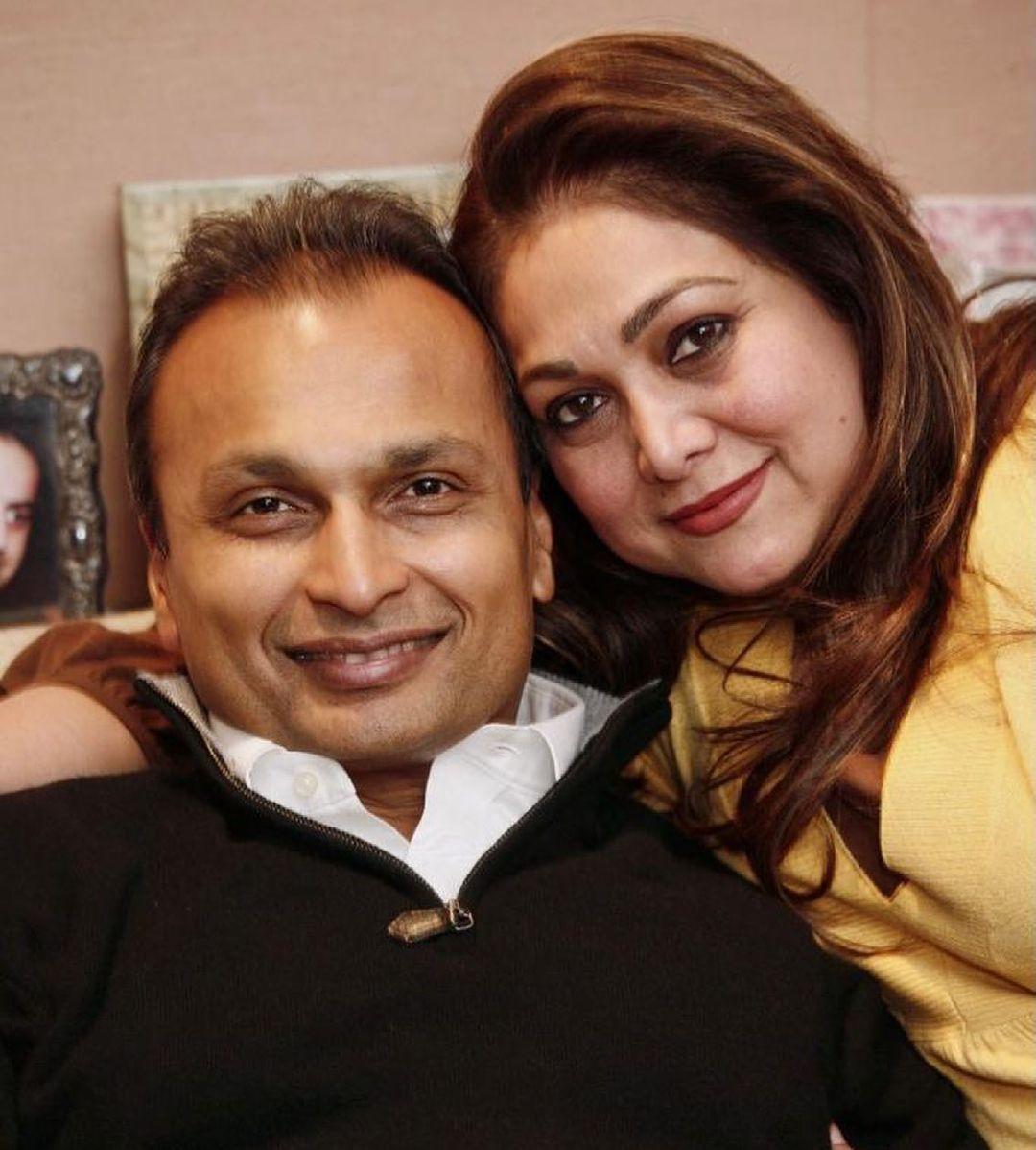 Anil Ambani with wife tina