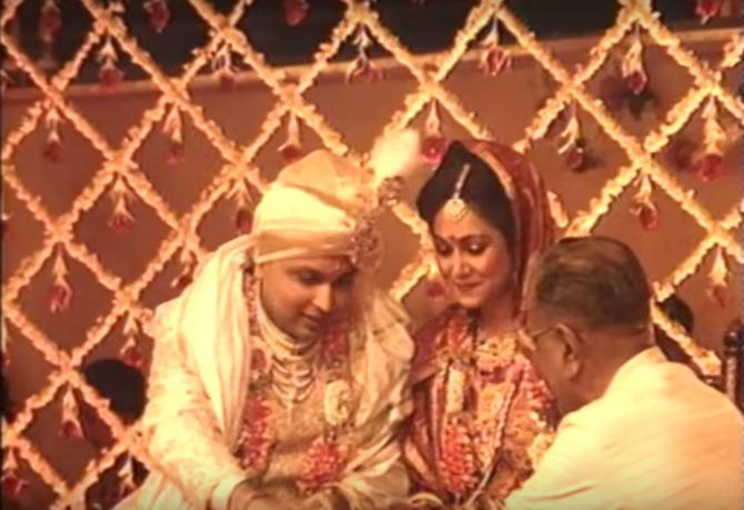 Anil Ambani And Tina Ambani Wedding Photo