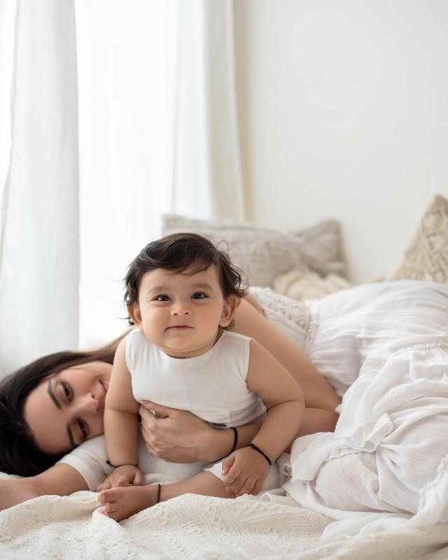 ekta kaul with baby