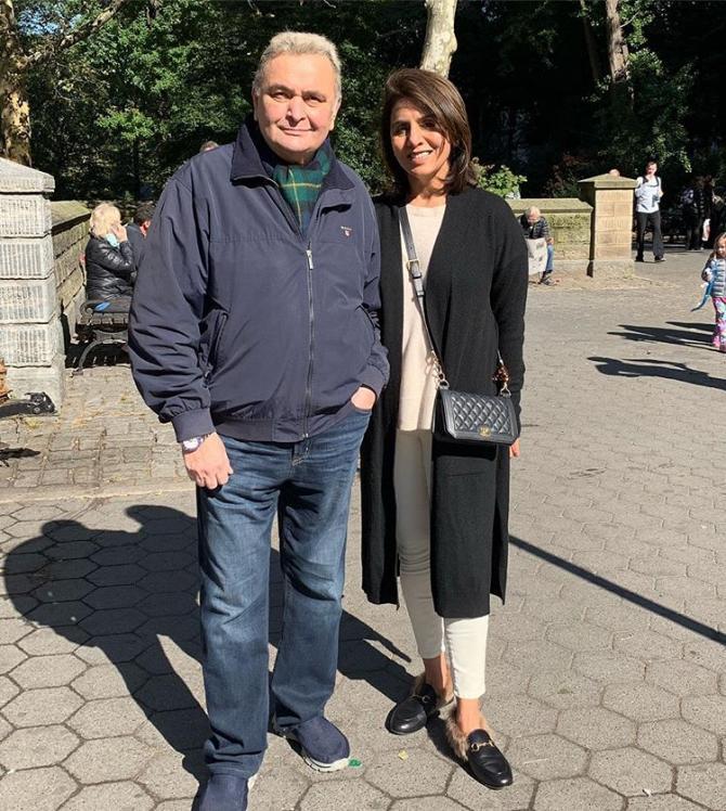 Neetu Kapoor With Rishi Kapoor