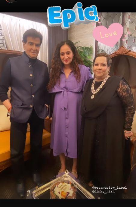 Ruchika Kapoor With Ekta's Parents